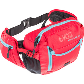 EVOC Hip Pack Race Backpack 3 L + Hydration Bladder 1,5 L, red-neon blue